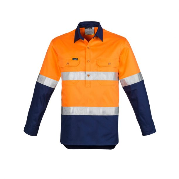 Hi Vis Closed Front L/S Shirt For Men